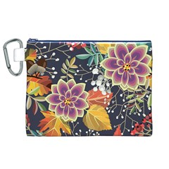 Autumn Flowers Pattern 10 Canvas Cosmetic Bag (xl)