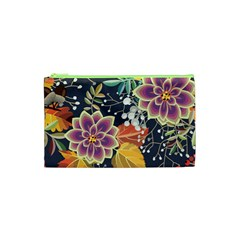 Autumn Flowers Pattern 10 Cosmetic Bag (xs)
