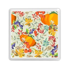 Autumn Flowers Pattern 11 Memory Card Reader (square)