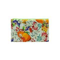 Autumn Flowers Pattern 11 Cosmetic Bag (xs)