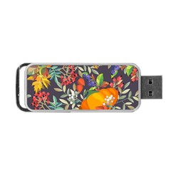 Autumn Flowers Pattern 12 Portable Usb Flash (one Side)