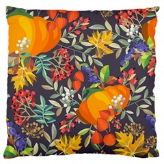 Autumn Flowers Pattern 12 Standard Flano Cushion Case (one Side)