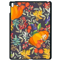 Autumn Flowers Pattern 12 Apple Ipad Pro 9 7   Black Seamless Case