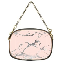 Luxurious Pink Marble 1 Chain Purses (two Sides)