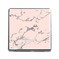 Luxurious Pink Marble 1 Memory Card Reader (square)