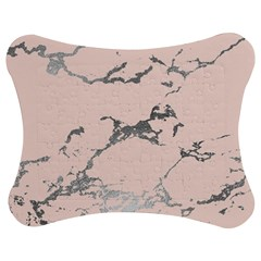 Luxurious Pink Marble 1 Jigsaw Puzzle Photo Stand (bow)