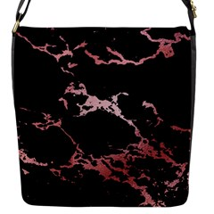 Luxurious Pink Marble 2 Flap Messenger Bag (s)