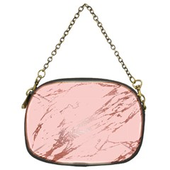 Luxurious Pink Marble 3 Chain Purses (two Sides)