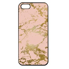 Luxurious Pink Marble 5 Apple Iphone 5 Seamless Case (black)