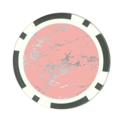 Luxurious Pink Marble 6 Poker Chip Card Guard (10 Pack)