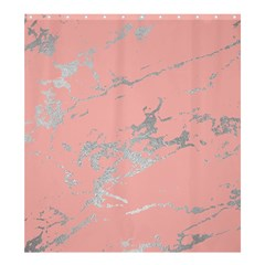Luxurious Pink Marble 6 Shower Curtain 66  X 72  (large)