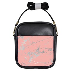Luxurious Pink Marble 6 Girls Sling Bags