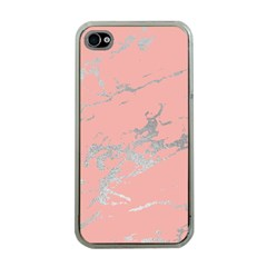 Luxurious Pink Marble 6 Apple Iphone 4 Case (clear)