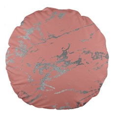Luxurious Pink Marble 6 Large 18  Premium Flano Round Cushions