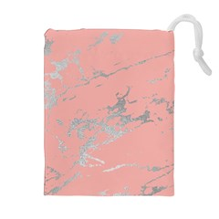 Luxurious Pink Marble 6 Drawstring Pouches (extra Large)