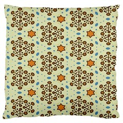 Stars And Other Shapes Pattern                         Large Flano Cushion Case (two Sides)