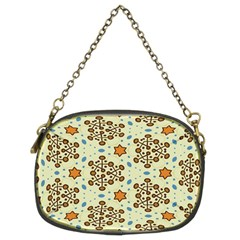 Stars And Other Shapes Pattern                          Chain Purse (two Sides)