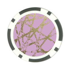 Modern,abstract,hand Painted, Gold Lines, Pink,decorative,contemporary,pattern,elegant,beautiful Poker Chip Card Guard (10 Pack)