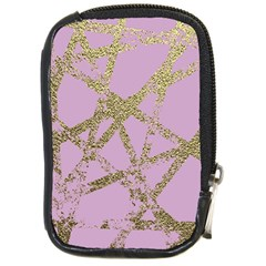 Modern,abstract,hand Painted, Gold Lines, Pink,decorative,contemporary,pattern,elegant,beautiful Compact Camera Cases