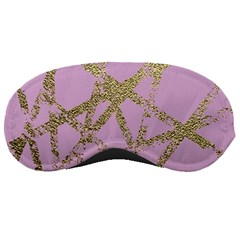 Modern,abstract,hand Painted, Gold Lines, Pink,decorative,contemporary,pattern,elegant,beautiful Sleeping Masks