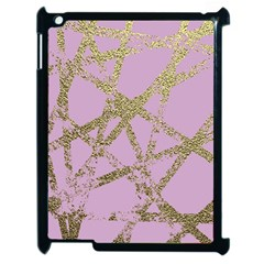Modern,abstract,hand Painted, Gold Lines, Pink,decorative,contemporary,pattern,elegant,beautiful Apple Ipad 2 Case (black)
