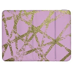 Modern,abstract,hand Painted, Gold Lines, Pink,decorative,contemporary,pattern,elegant,beautiful Samsung Galaxy Tab 7  P1000 Flip Case