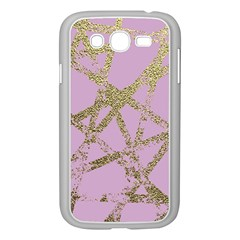 Modern,abstract,hand Painted, Gold Lines, Pink,decorative,contemporary,pattern,elegant,beautiful Samsung Galaxy Grand Duos I9082 Case (white)