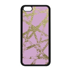 Modern,abstract,hand Painted, Gold Lines, Pink,decorative,contemporary,pattern,elegant,beautiful Apple Iphone 5c Seamless Case (black)