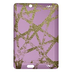 Modern,abstract,hand Painted, Gold Lines, Pink,decorative,contemporary,pattern,elegant,beautiful Amazon Kindle Fire Hd (2013) Hardshell Case