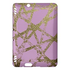 Modern,abstract,hand Painted, Gold Lines, Pink,decorative,contemporary,pattern,elegant,beautiful Kindle Fire Hdx Hardshell Case