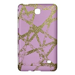 Modern,abstract,hand Painted, Gold Lines, Pink,decorative,contemporary,pattern,elegant,beautiful Samsung Galaxy Tab 4 (7 ) Hardshell Case