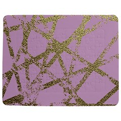 Modern,abstract,hand Painted, Gold Lines, Pink,decorative,contemporary,pattern,elegant,beautiful Jigsaw Puzzle Photo Stand (rectangular)