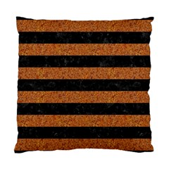 Stripes2 Black Marble & Rusted Metal Standard Cushion Case (two Sides)