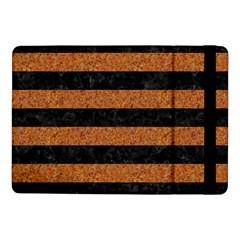 Stripes2 Black Marble & Rusted Metal Samsung Galaxy Tab Pro 10 1  Flip Case