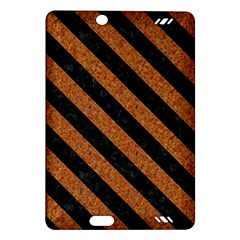 Stripes3 Black Marble & Rusted Metal Amazon Kindle Fire Hd (2013) Hardshell Case