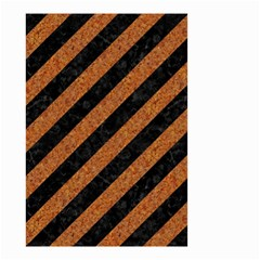 Stripes3 Black Marble & Rusted Metal (r) Small Garden Flag (two Sides)