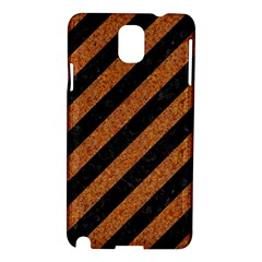 Stripes3 Black Marble & Rusted Metal (r) Samsung Galaxy Note 3 N9005 Hardshell Case