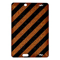 Stripes3 Black Marble & Rusted Metal (r) Amazon Kindle Fire Hd (2013) Hardshell Case