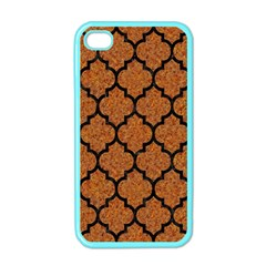 Tile1 Black Marble & Rusted Metal Apple Iphone 4 Case (color)