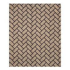 Brick2 Black Marble & Sand Shower Curtain 60  X 72  (medium)