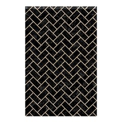 Brick2 Black Marble & Sand (r) Shower Curtain 48  X 72  (small)