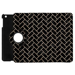 Brick2 Black Marble & Sand (r) Apple Ipad Mini Flip 360 Case