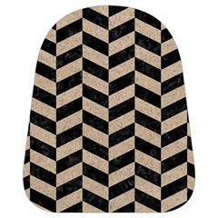 Chevron1 Black Marble & Sand School Bag (small)