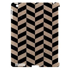 Chevron1 Black Marble & Sand Apple Ipad 3/4 Hardshell Case (compatible With Smart Cover)