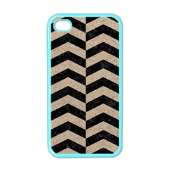 Chevron2 Black Marble & Sand Apple Iphone 4 Case (color)
