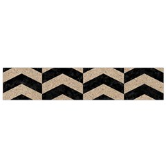Chevron2 Black Marble & Sand Small Velour Scarf