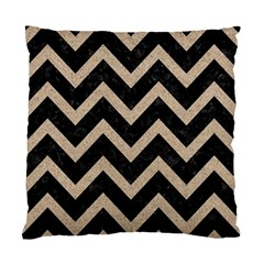 Chevron9 Black Marble & Sand (r) Standard Cushion Case (two Sides)