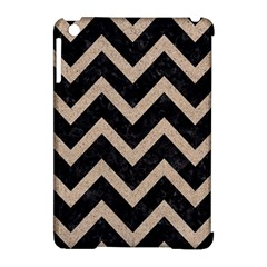 Chevron9 Black Marble & Sand (r) Apple Ipad Mini Hardshell Case (compatible With Smart Cover)