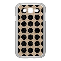 Circles1 Black Marble & Sand Samsung Galaxy Grand Duos I9082 Case (white)