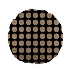 Circles1 Black Marble & Sand (r) Standard 15  Premium Flano Round Cushions